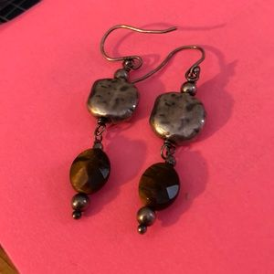 Silpada vintage SS and faceted tiger's eye EUC!